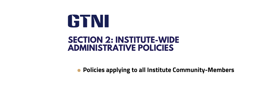 Section 2: Institute-wide Administrative Policies