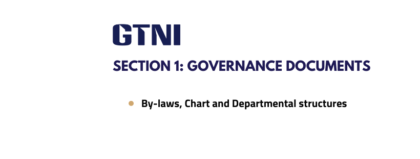 Section 1: Governance Documents